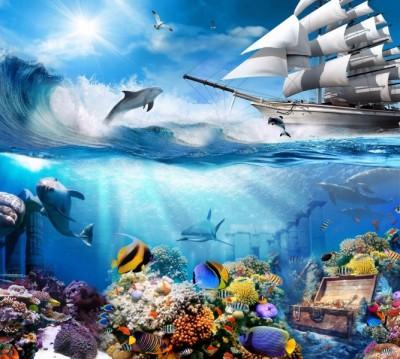 Фотошторы «Морские глубины»
