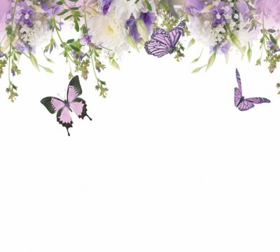 Фотошторы «Сиреневые бабочки»
