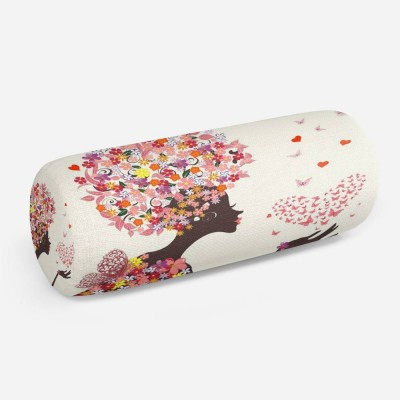 3D подушка-валик «Девушка-весна»