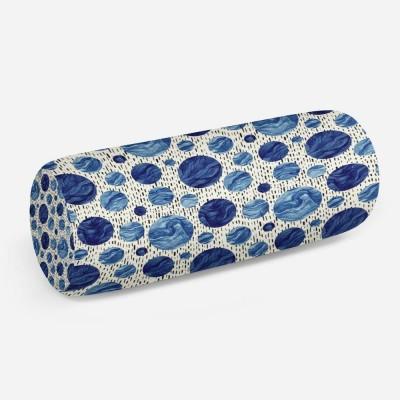 3D подушка-валик «Синие волны»