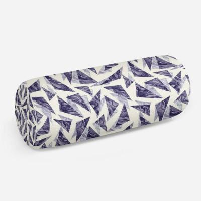 3D подушка-валик «Парящие треугольники»