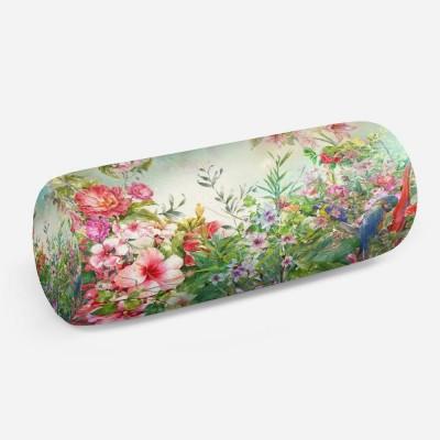 3D подушка-валик «Цветущая поляна»