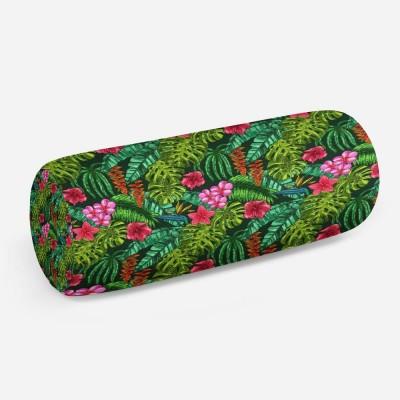 3D подушка-валик «Яркие тропические акценты»