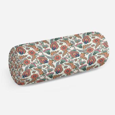 3D подушка-валик «Цветы с орнаментом»