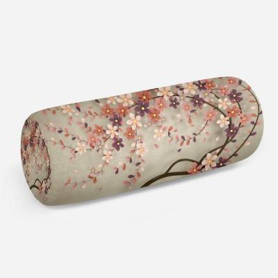 3D подушка-валик «Персиковое дерево»