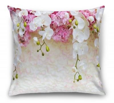 3D Подушка «Ниспадающие орхидеи»