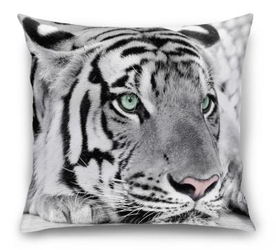 3D Подушка «Тигр черно-белые»