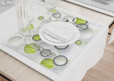 Сервировочные салфетки «Объемные зеленые круги»