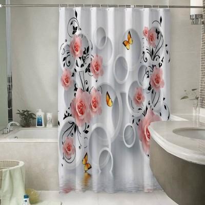 Шторы для ванной «Бутоны роз над водой»