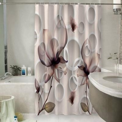 Шторы для ванной «Абстрактные магнолии»