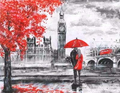 3D Фотообои «Романтика Лондона»