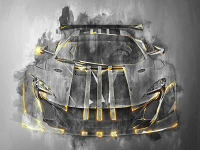 3D Фотообои «Мощная спортивная машина»