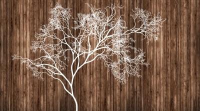 3D Фотообои «Дизайнерское дерево»