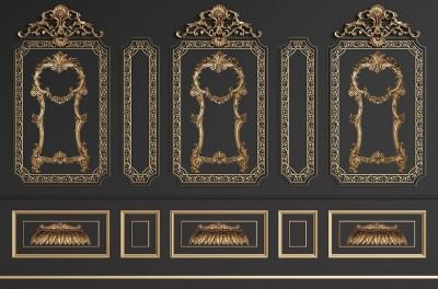 3D Фотообои «Стена в классическом стиле»