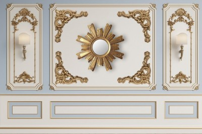 3D Фотообои «Стена в стиле барокко»
