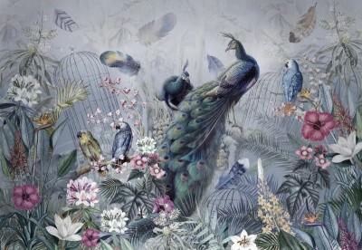 Фотообои «Сад с павлинами»