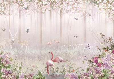 3D Фотообои «Цветущий лес»