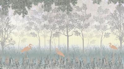 3D Фотообои «Туманный лес»