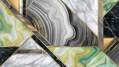 3D Фотообои «Мраморная композиция с хризолитом»