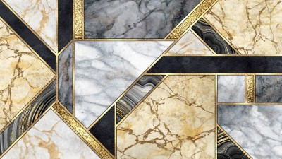 3D Фотообои «Мраморная мозаика»