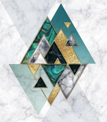 3D Фотообои «Мраморные горы»