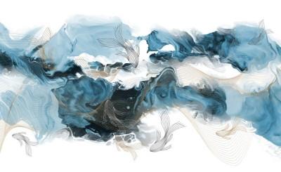 3D Фотообои «Флюидные волны»