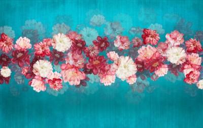 3D Фотообои «Цветочный мираж»