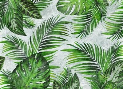 3D Фотообои «Стильные тропики»
