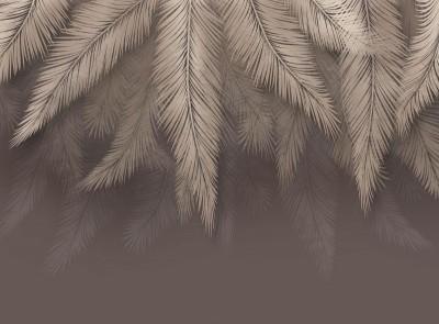 3D Фотообои «Шаль из листьев»