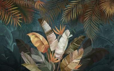 3D Фотообои «Тропический букет»