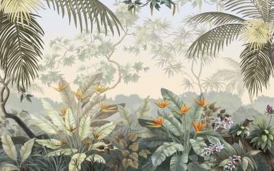 3D Фотообои «Тропический цветник»