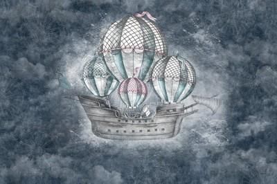 Фотообои «Небесный фрегат»