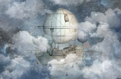 Фотообои «Облачный корабль»