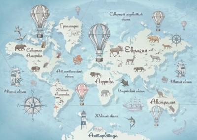 Фотообои «Стильная карта мира»
