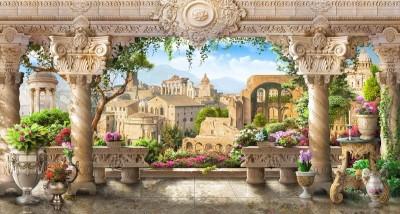 3D Фотообои «Римская терраса»