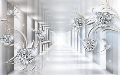 3D Фотообои «Тоннель с бриллиантами»