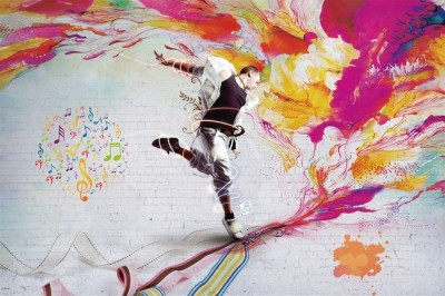 3D Фотообои «Street Dance»