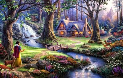 3D Фотообои «Сказочный лес»
