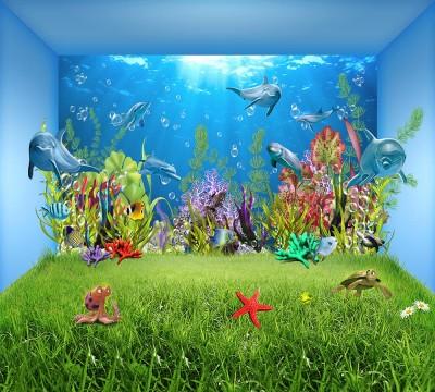 Фотошторы «Газон под водой»