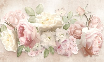 3D Фотообои «Букет нежных цветов»