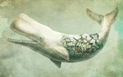 3D Фотообои «Сказочный кит»