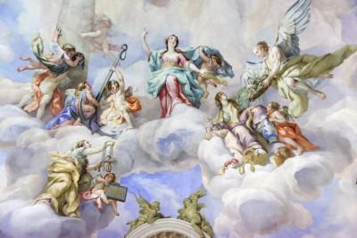 3D Фотообои  «Фреска ангелы»