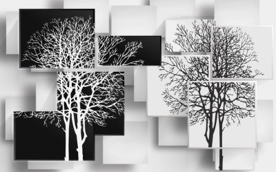 3D Фотообои «Деревья в стиле модерн»