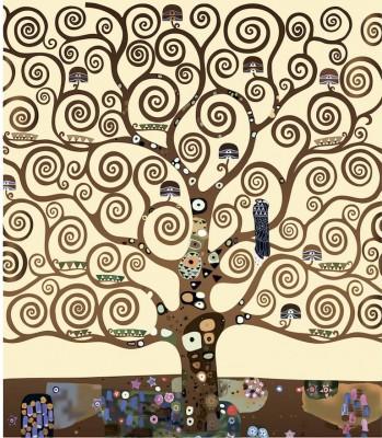 3D Фотообои «Климт Густав «Древо жизни»