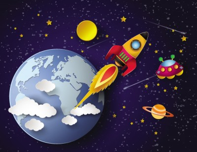 3D Фотообои «Космос для детской»