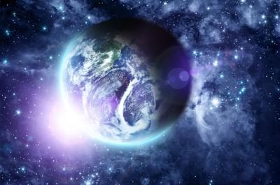 3D Фотообои «Фантастический вид на Землю»