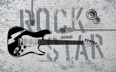 3D Фотообои «ROCK STAR»