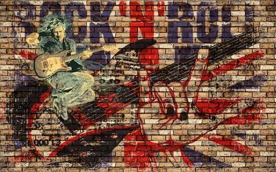 3D Фотообои «Rock N Roll»