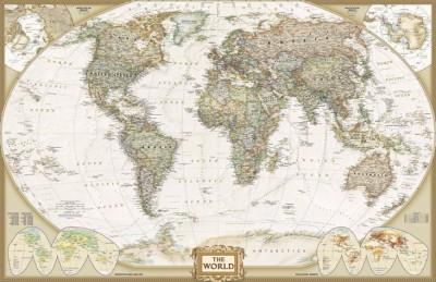 3D Фотообои  «Красивая карта мира»