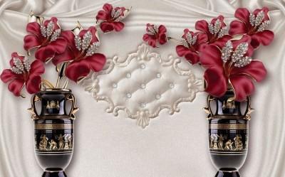 3D Фотообои «Инсталляция с античными вазами»